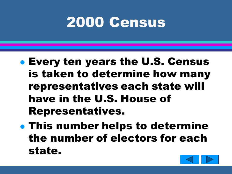 2000 Census l Every ten years the U.S.
