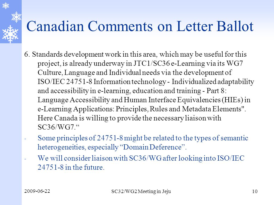 Canadian Comments on Letter Ballot 6.
