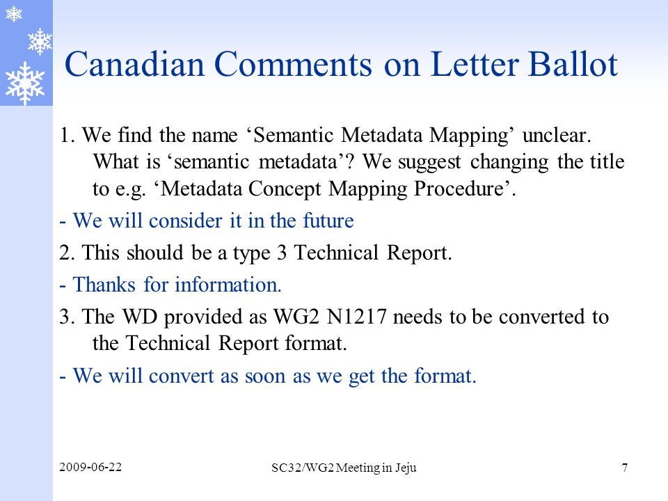 Canadian Comments on Letter Ballot 4.