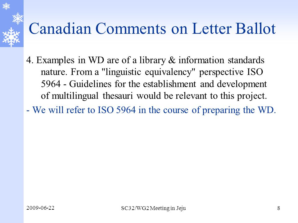 Canadian Comments on Letter Ballot 5.