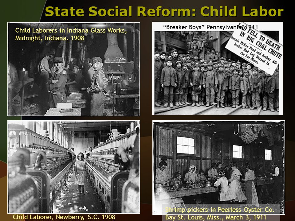 State Social Reform: Child Labor Child Laborers in Indiana Glass Works, Midnight, Indiana.