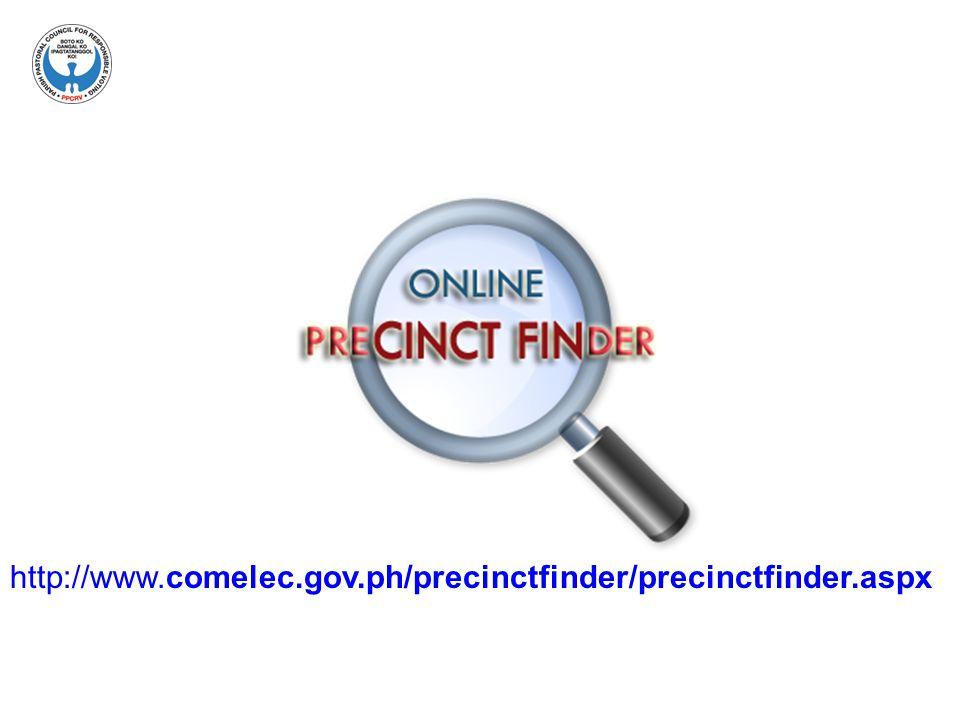 http://www.comelec.gov.ph/precinctfinder/precinctfinder.aspx