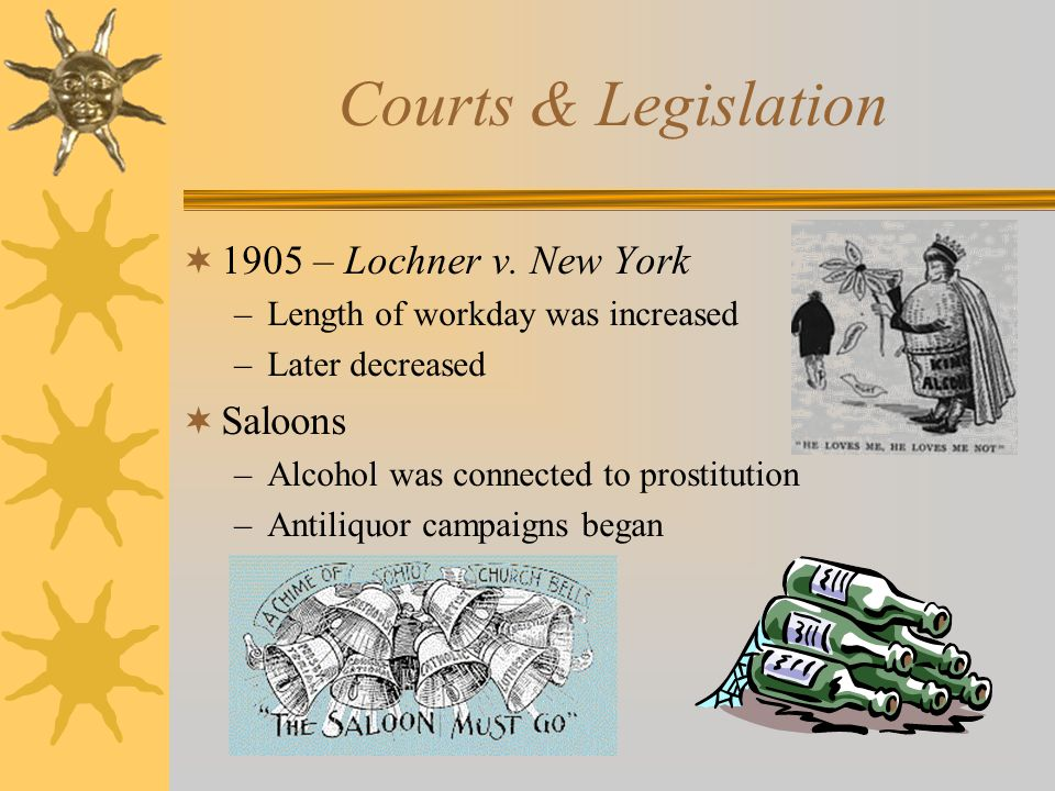 Courts & Legislation  1905 – Lochner v.