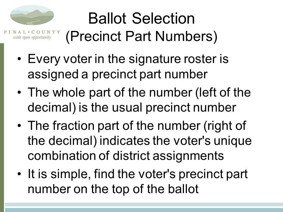 Provisional Voters (Voter's name does not appear in the signature roster and has not moved) Call us.