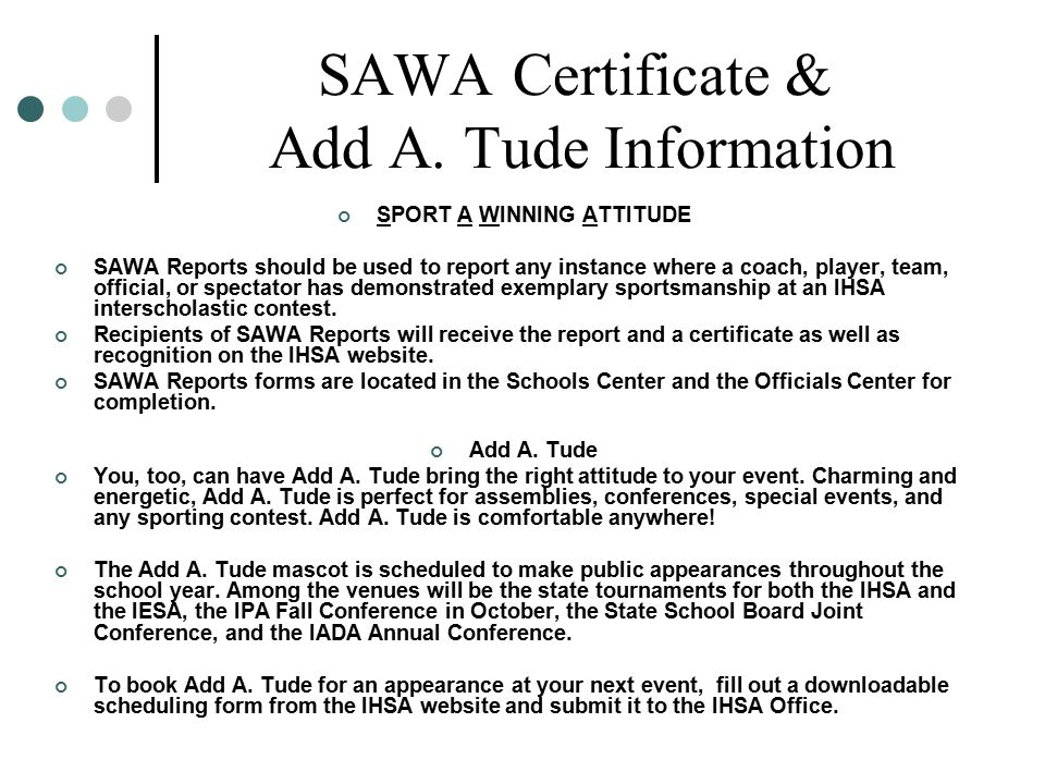 SAWA Certificate & Add A.
