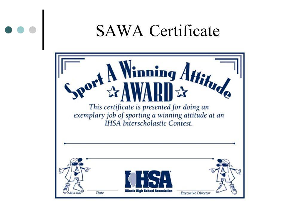 SAWA Certificate