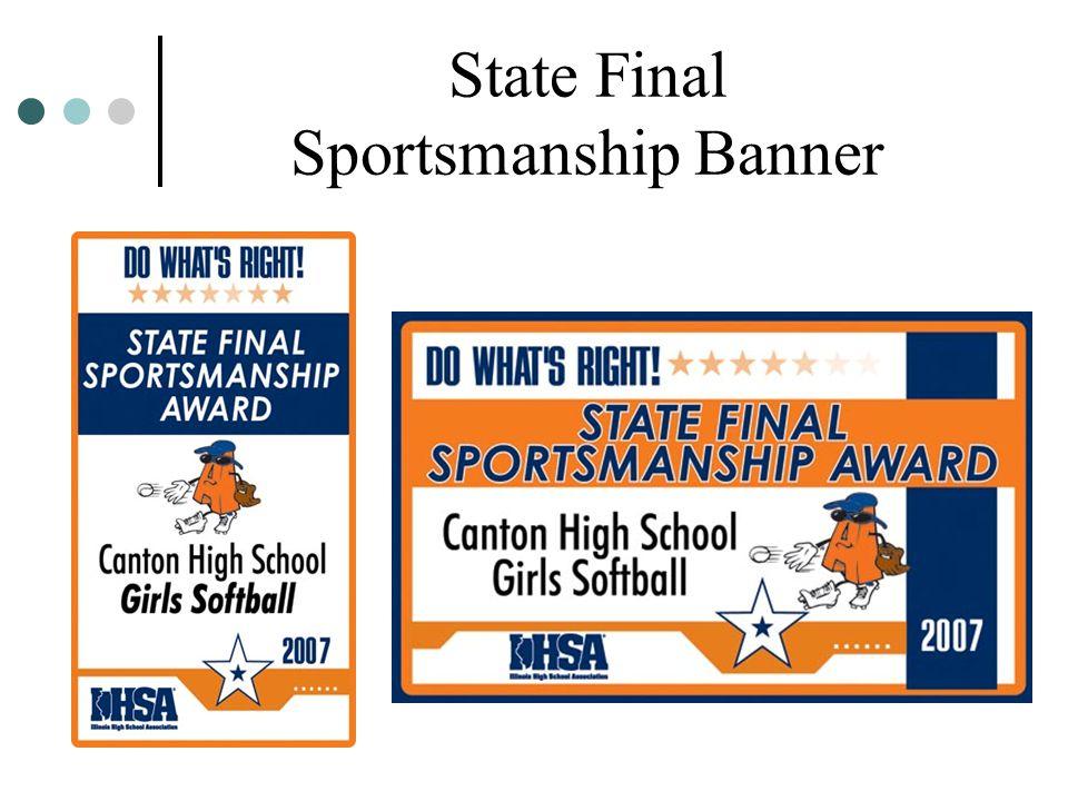 State Final Sportsmanship Banner