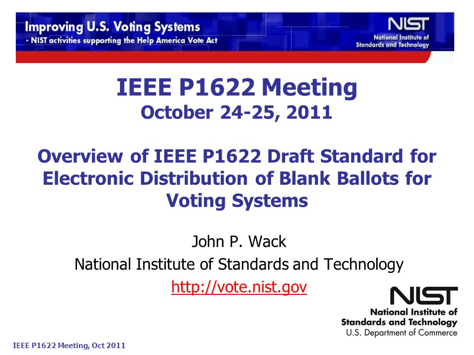 IEEE P1622 Meeting, Oct 2011 Page 2 Outline P1622 Use case rationale.