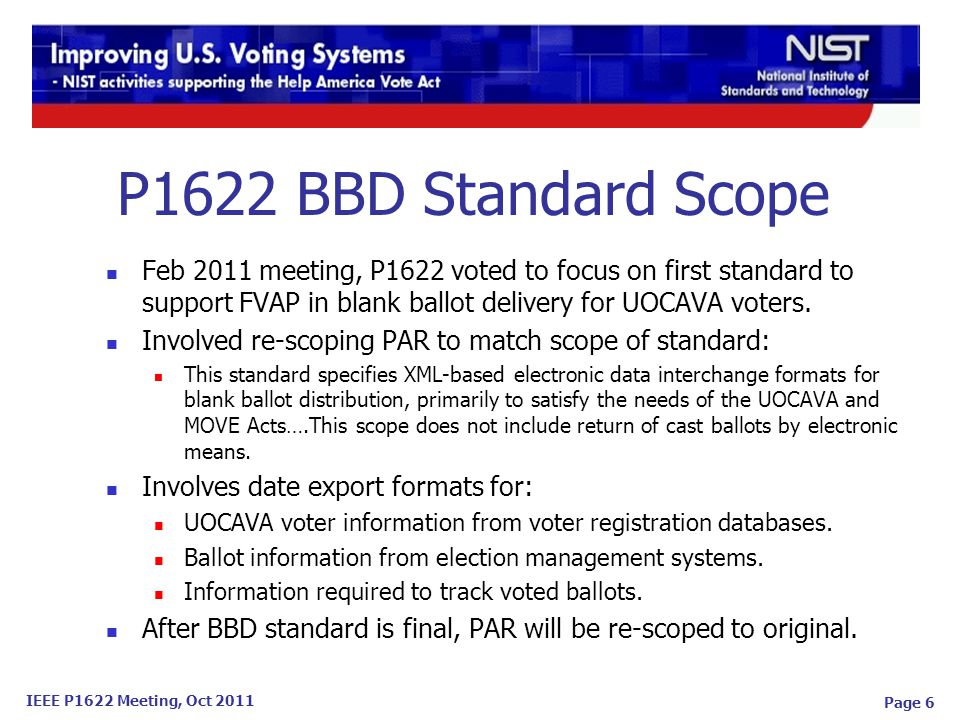 IEEE P1622 Meeting, Oct 2011 Page 17 Comments Received Adherence to IEEE Standards Style Guide.