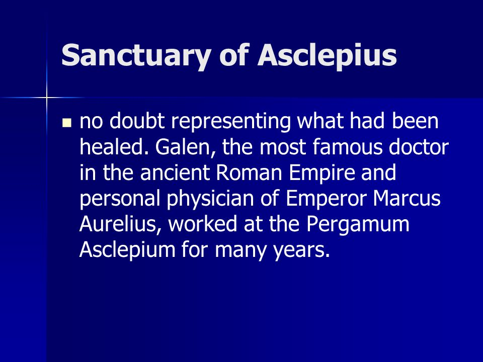 Sanctuary of Asclepius no doubt representing what had been healed.