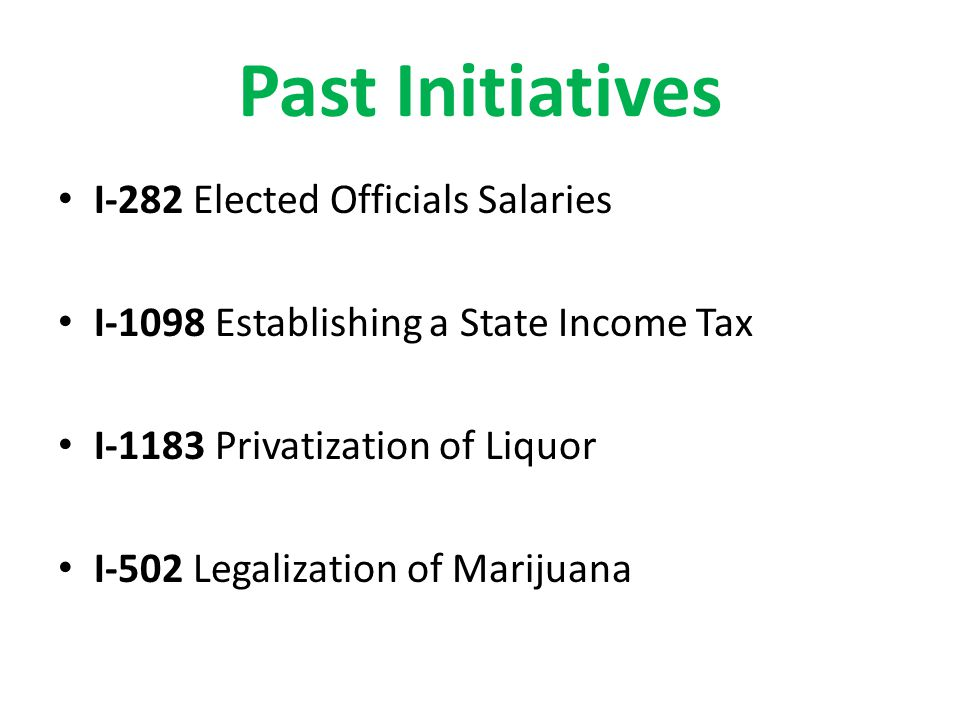 Current Initiatives Might Appear on 2014 Ballot.