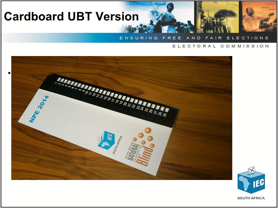 Cardboard UBT Version