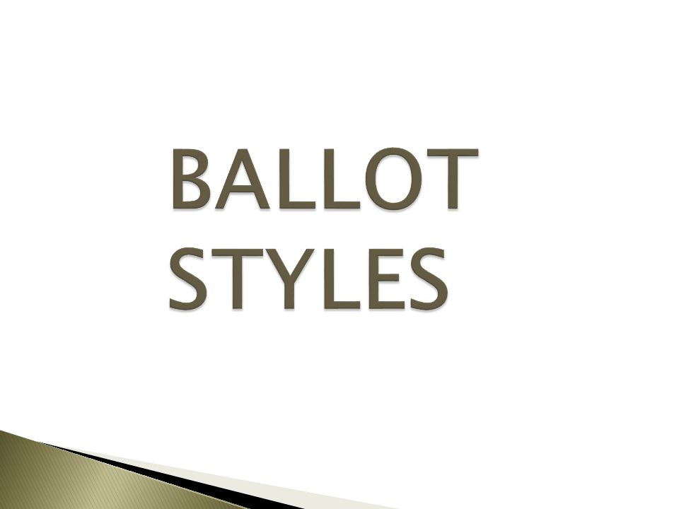 Ballot Styles in 4 steps: 1.Check Milestone #3 2.Generate Ballot Styles 3.Rename Ballot Styles 4.Check Milestone #4 For more information see page 29 of the Election Setup chapter of the SVRS Manual or watch the SVRS Overview webinar from January 21, 2015.