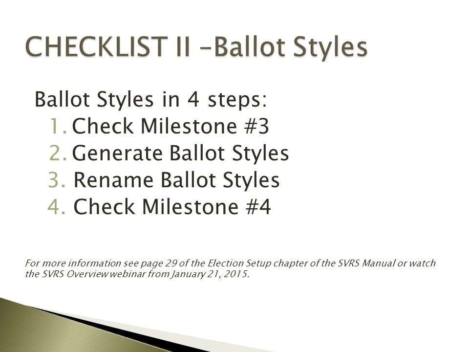 Contests and Candidates must be complete and correct before checking Milestone #3