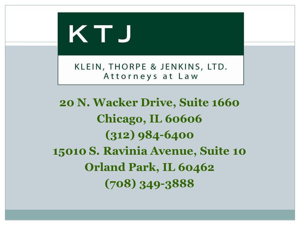 20 N. Wacker Drive, Suite 1660 Chicago, IL 60606 (312) 984-6400 15010 S.