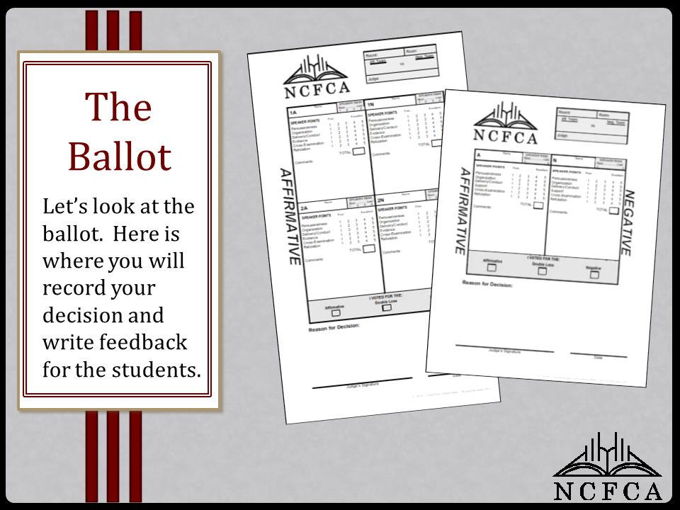 Let's look at the ballot.