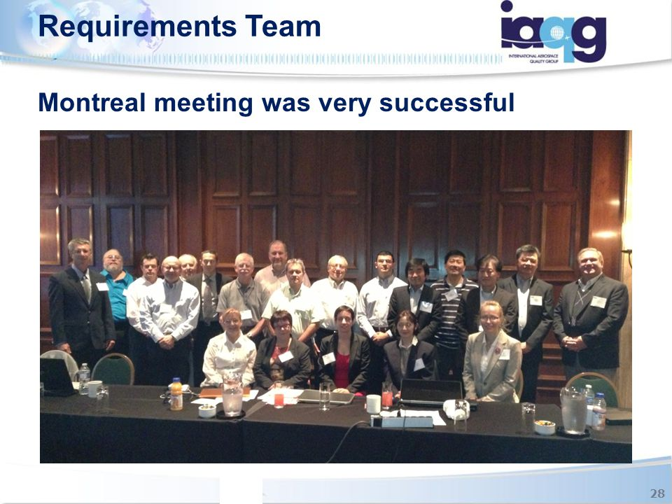 Requirements Team 28 Montreal meeting was very successful