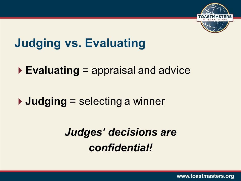 Judging vs.