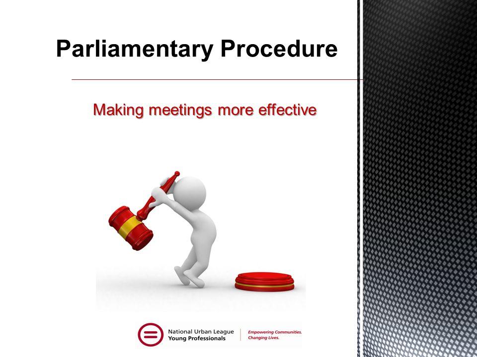 Making meetings more effective