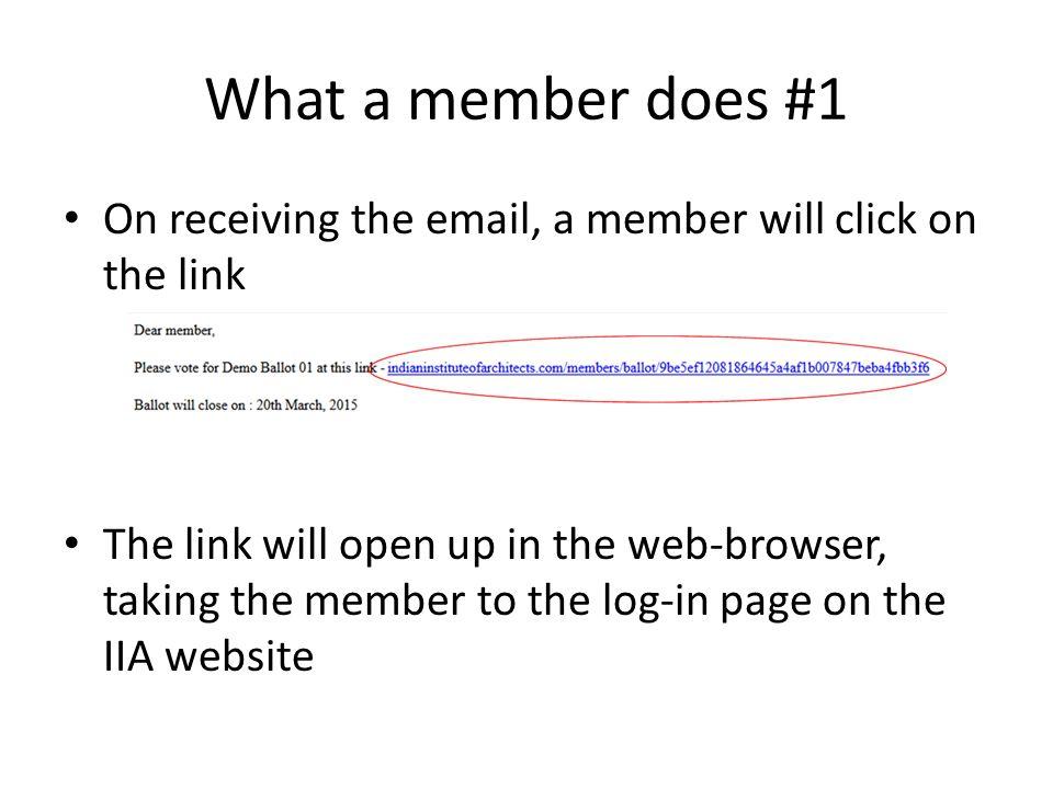 IIA website log-in page