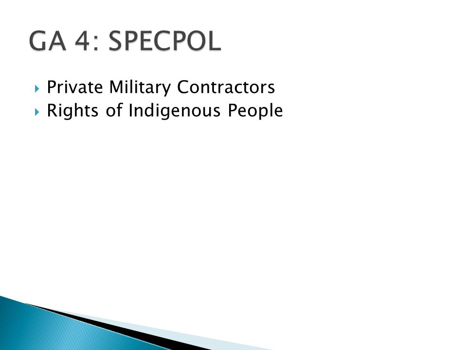  Private Military Contractors  Rights of Indigenous People