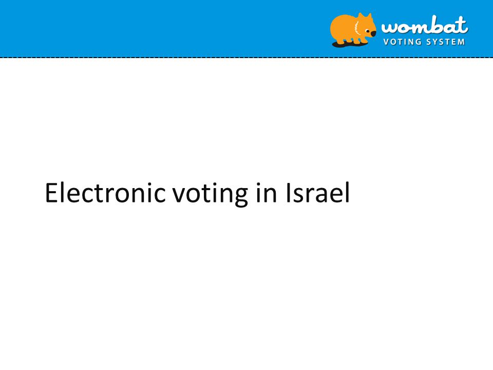 Electronic voting in Israel