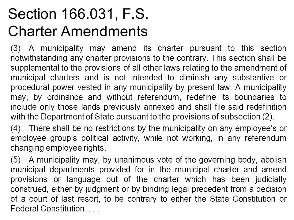 Section 166.031, F.S.