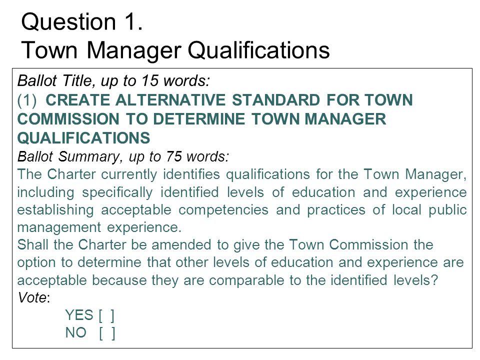 Question 6.Create Procedures for Vacancies in Candidacy Sec.