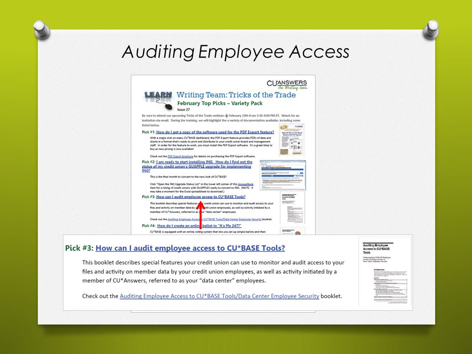 Auditing Employee Access