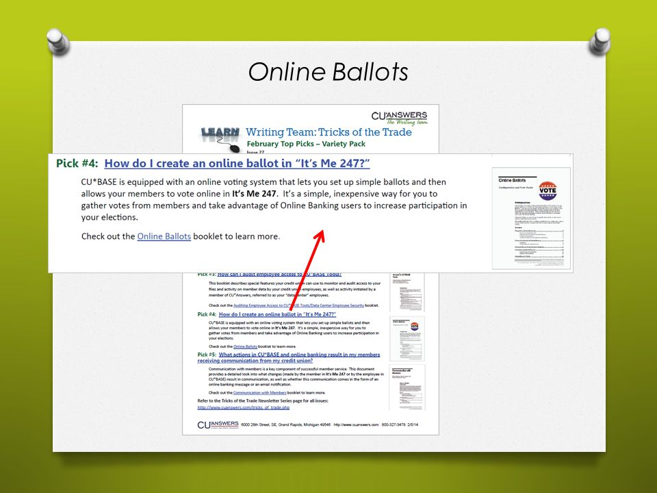 Online Ballots