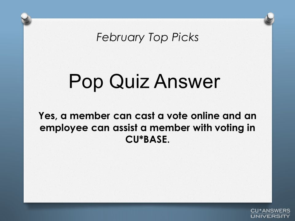 Yes, a member can cast a vote online and an employee can assist a member with voting in CU*BASE.