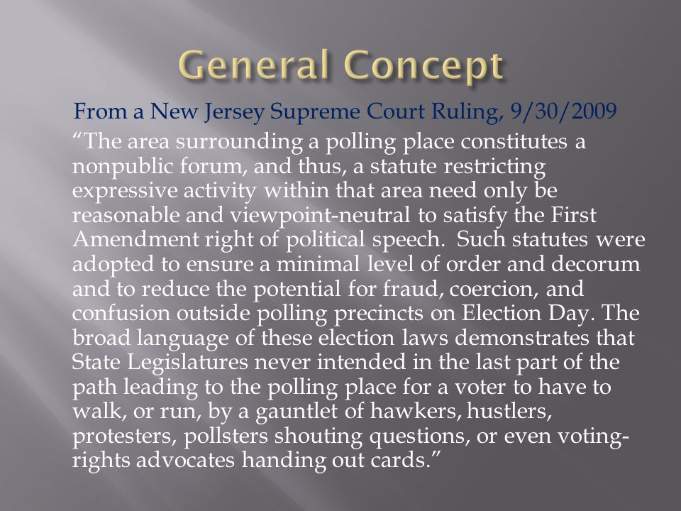 The United States Supreme Court's decision in Burson v.