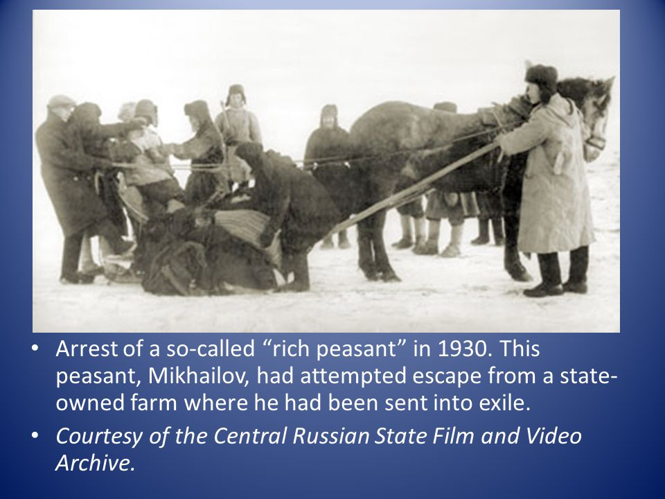 Arrest of a so-called rich peasant in 1930.