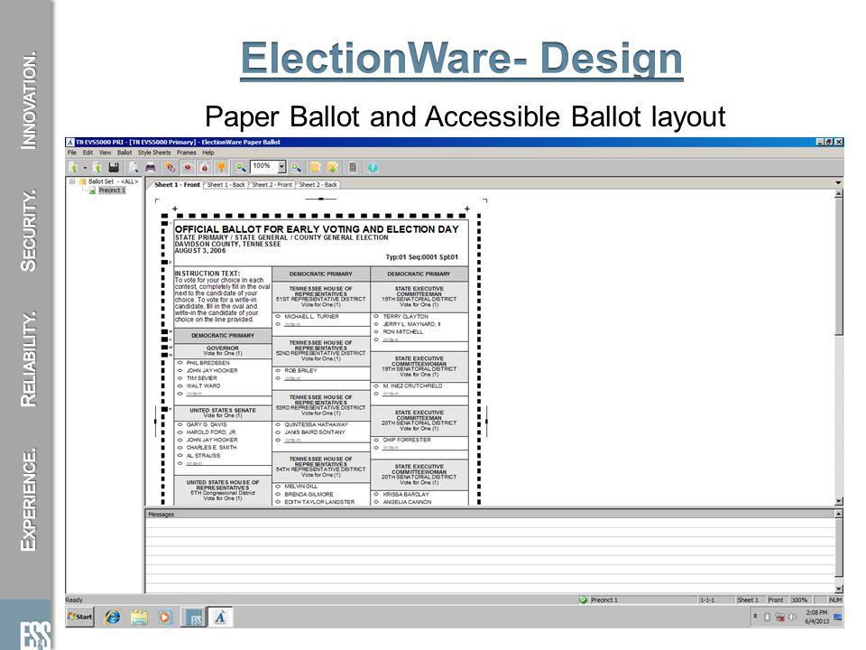 Paper Ballot and Accessible Ballot layout 10