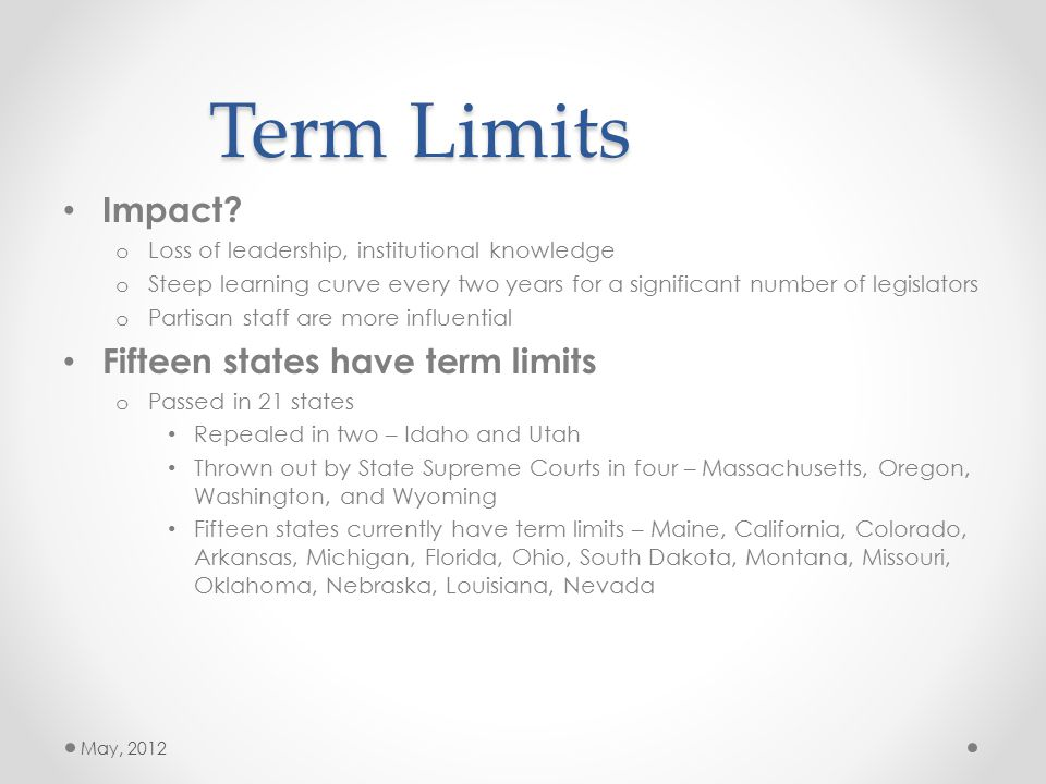 Term Limits Impact.