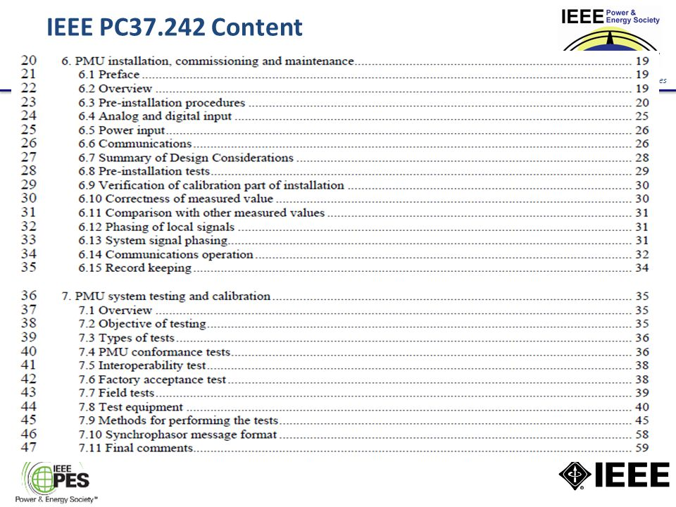 New Energy Horizons Opportunities and Challenges IEEE PC37.242 Content