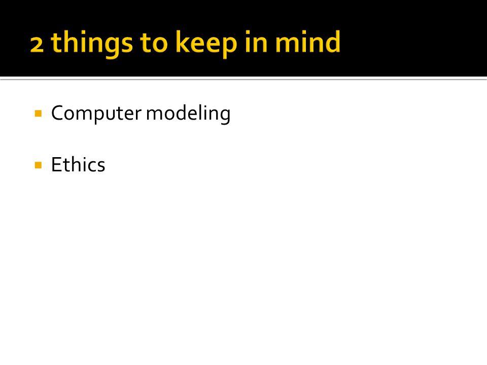  Computer modeling  Ethics