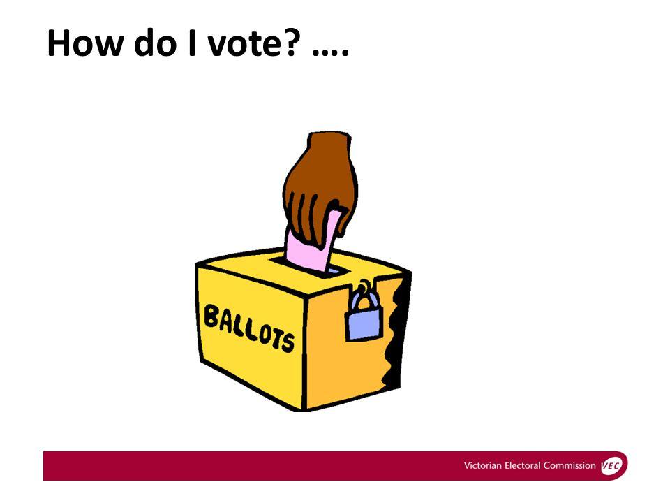 How do I vote? ….
