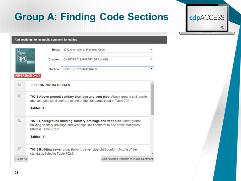 25 Group A: Finding Code Sections