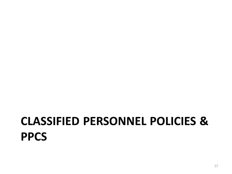 CLASSIFIED PERSONNEL POLICIES & PPCS 37