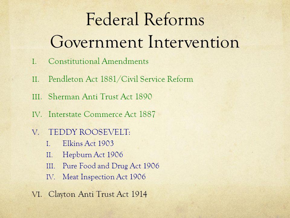 I.Progressive Era Amendments 16th (1913) Granted Congress the power to tax income.