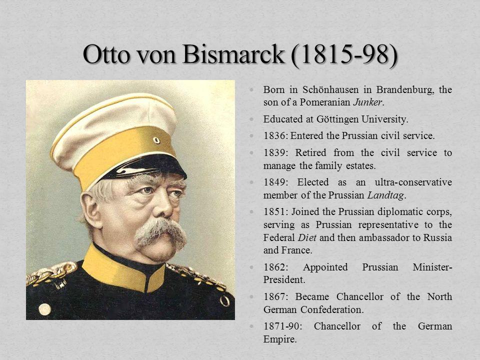 Born in Schönhausen in Brandenburg, the son of a Pomeranian Junker.