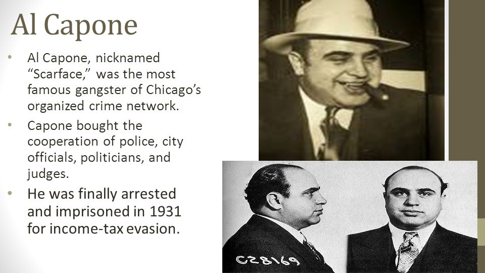 Al Capone Al Capone, nicknamed Scarface, was the most famous gangster of Chicago's organized crime network.