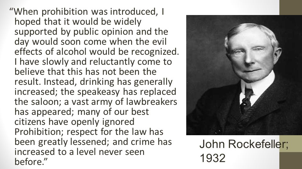 When prohibition was introduced, I hoped that it would be widely supported by public opinion and the day would soon come when the evil effects of alcohol would be recognized.