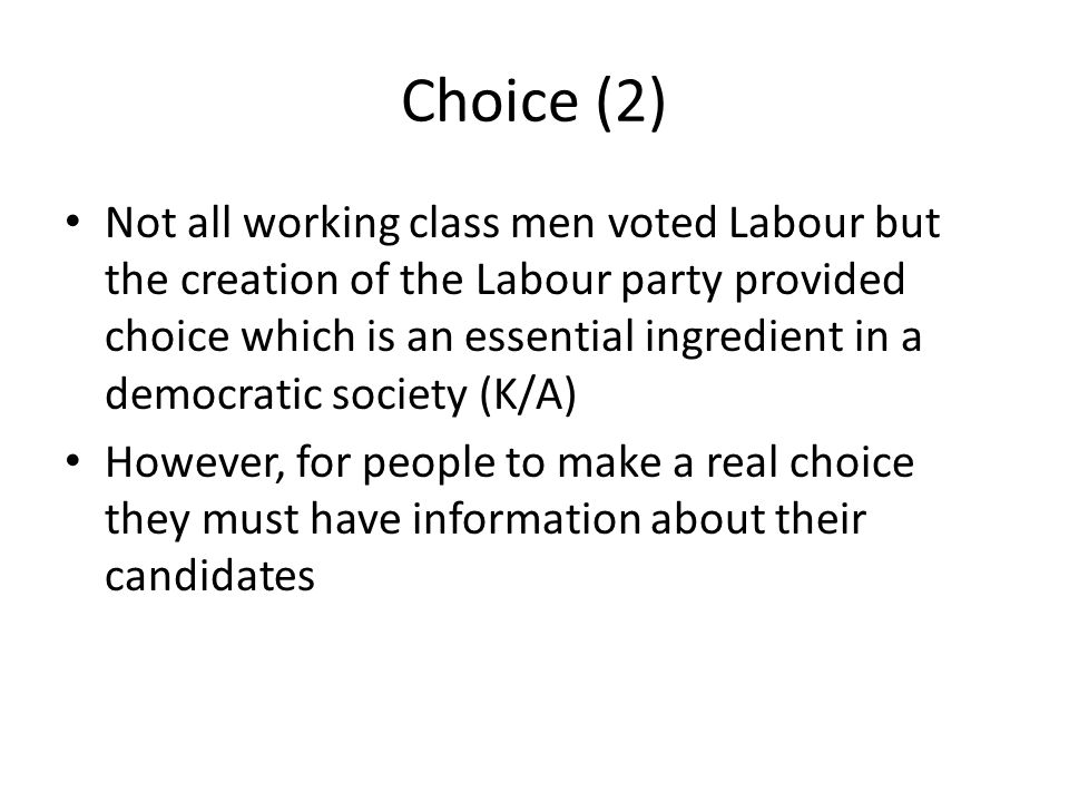 Choice – Party Organisation Conservative Central Office Primrose League, 1881 National Liberal Federation, 1877 Branch Associations