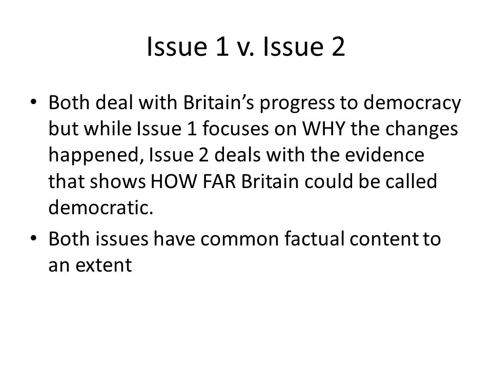 Issue 2 – Things to think about.
