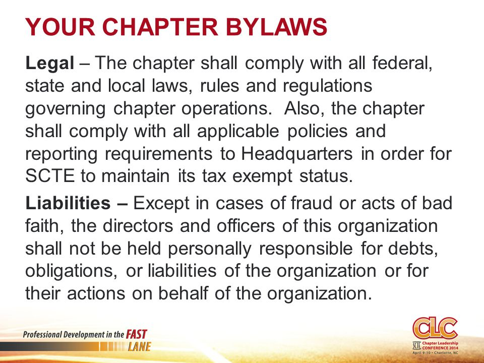 FIDUCIARY DUTY OF THE BOARD Directors owe duties of care and loyalty to the organization.