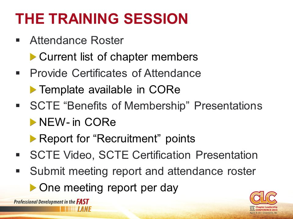 WEBINARS  Meeting Notice Required  Record Attendance for each location  Locations with 5 or more attendees= training hours  Submit Summary- Locations and Attendance  Teamwork- Host chapter receives Teamwork points  Participating chapters receive training hours