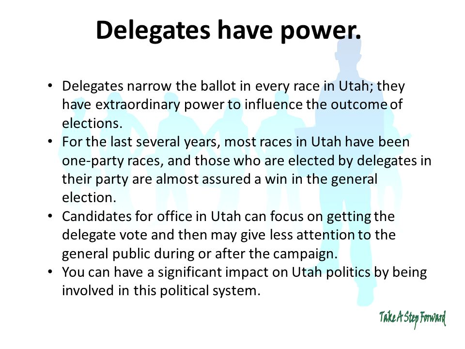 Delegates have power.