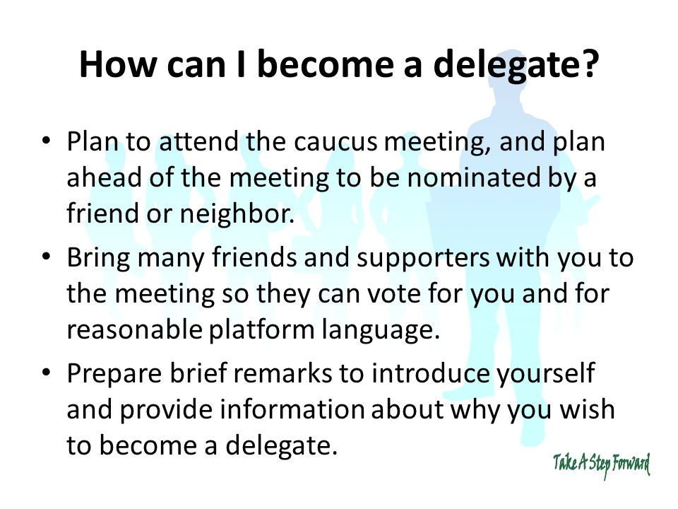 How can I become a delegate.